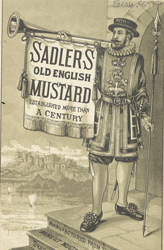 Advert for Sadler's Old English Mustard 6994